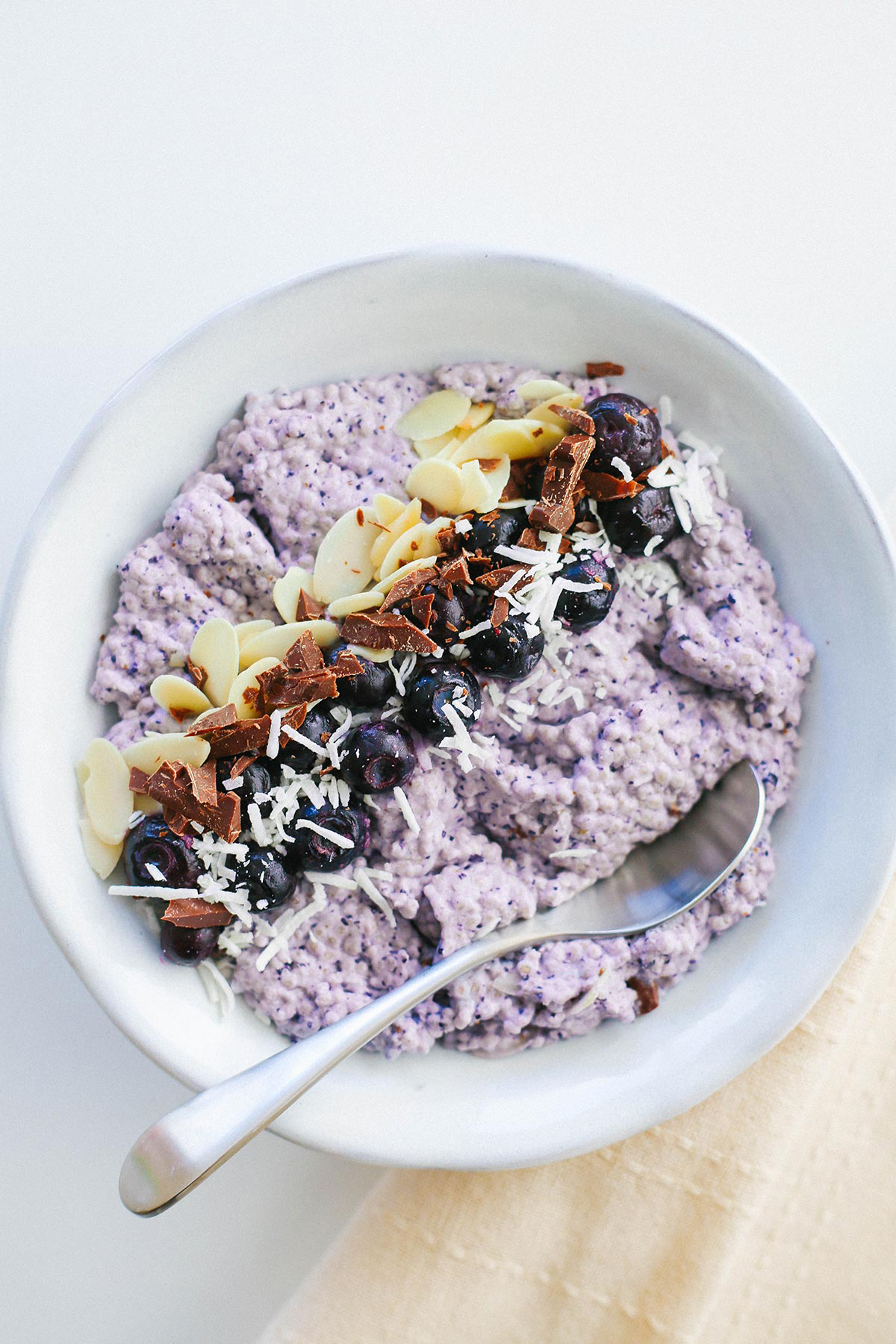 Blueberry Chia Pudding for keto and low carb. Easy recipe for breakfast.