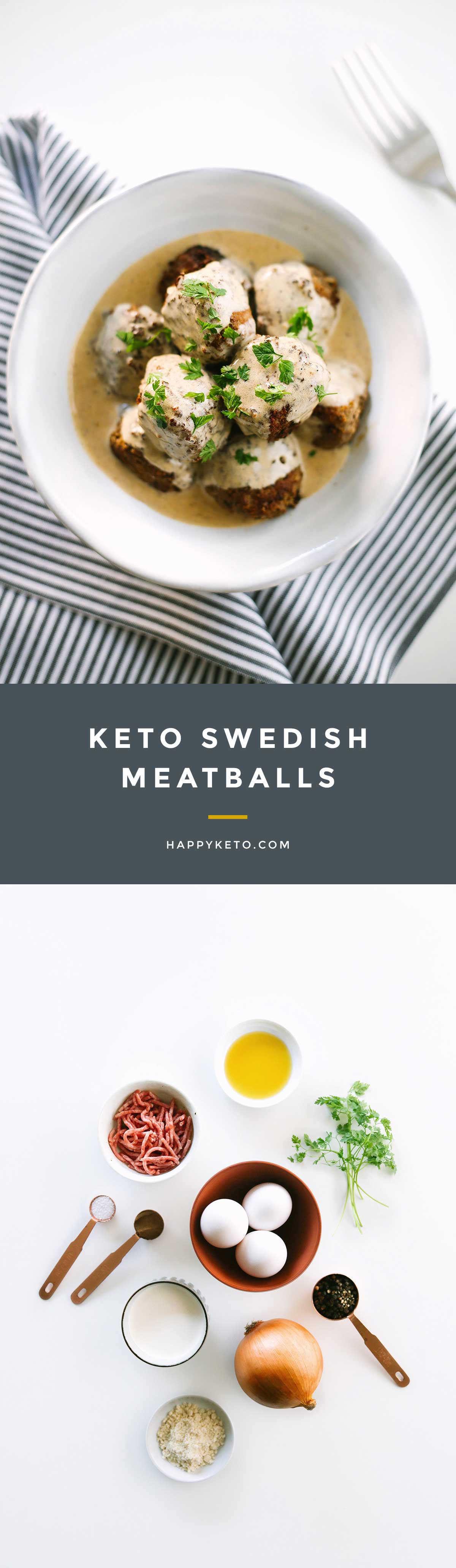 Swedish meatballs for keto and low carb. Easy recipe with allspice and gravy.