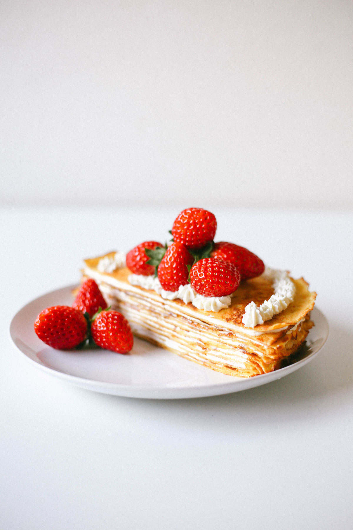 Strawberry Cream Crepe Cake Recipe