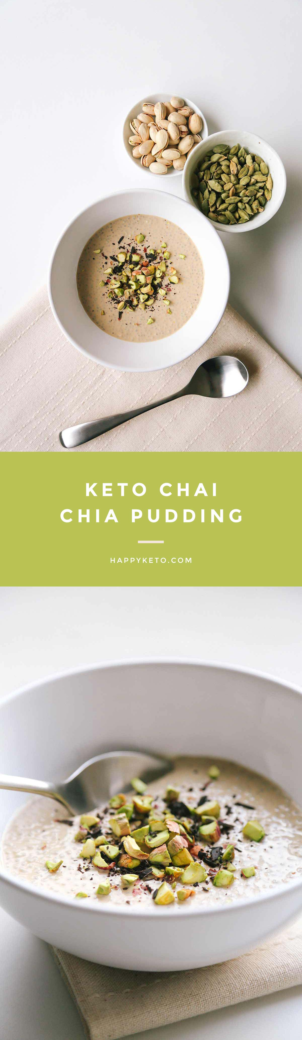 Keto Chai Chia Pudding for ketogenic and low carb. Easy recipe with chia seeds and coconut milk. keto, keto chia pudding, keto chia seed recipes, keto chia seed pudding, keto chia pudding low carb, keto breakfast, keto recipes, ketogenic diet, keto dessert, keto easy recipes, keto easy, keto meals, keto quick meals, keto recipes easy, low carb, low carb recipes, low carb chia pudding, lchf, lchf recipes