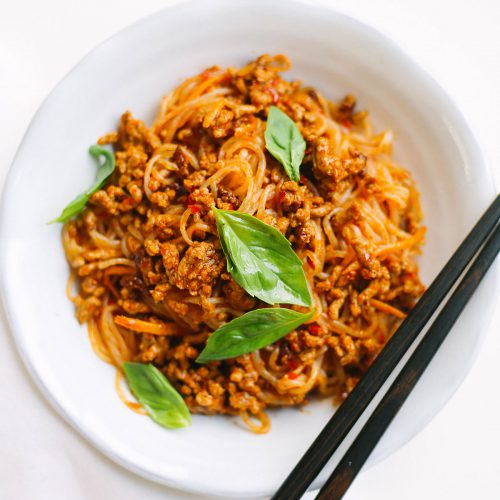 Keto Sambal Pork Noodles